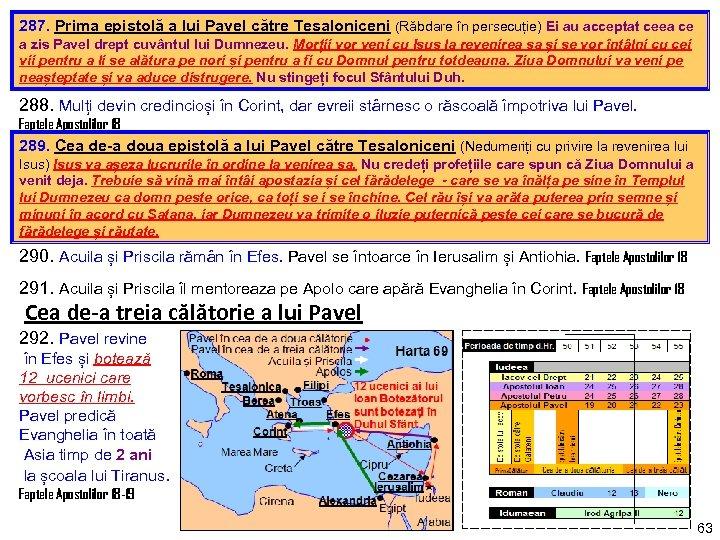 287. Prima epistolă a lui Pavel către Tesaloniceni (Răbdare în persecuție) Ei au acceptat