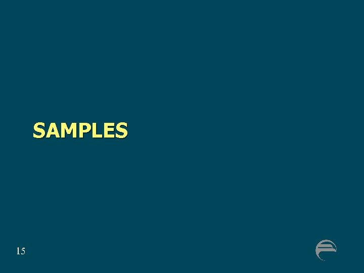 SAMPLES 15