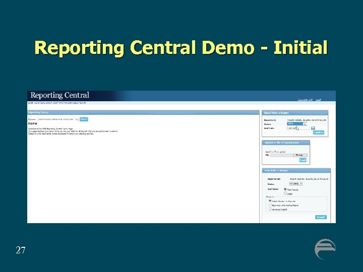 Reporting Central Demo - Initial 27