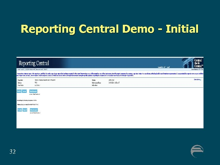 Reporting Central Demo - Initial 32