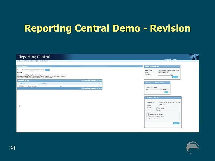 Reporting Central Demo - Revision 34