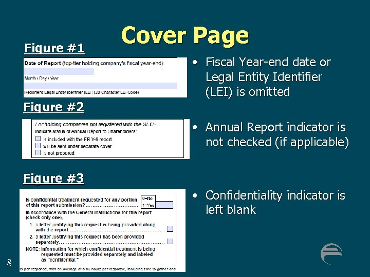 Figure #1 Cover Page • Fiscal Year-end date or Legal Entity Identifier (LEI) is