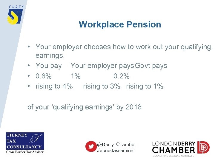 Workplace Pension • Your employer chooses how to work out your qualifying earnings. •