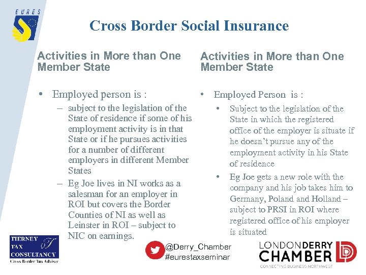 Cross Border Social Insurance Activities in More than One Member State • Employed person