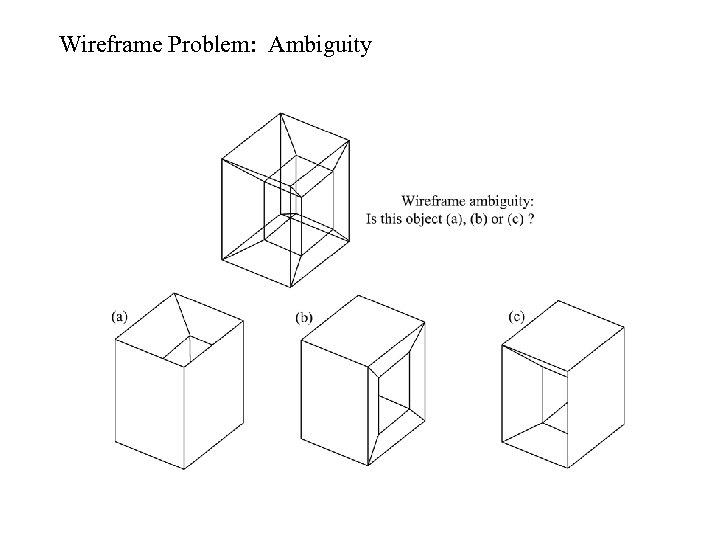 Wireframe Problem: Ambiguity