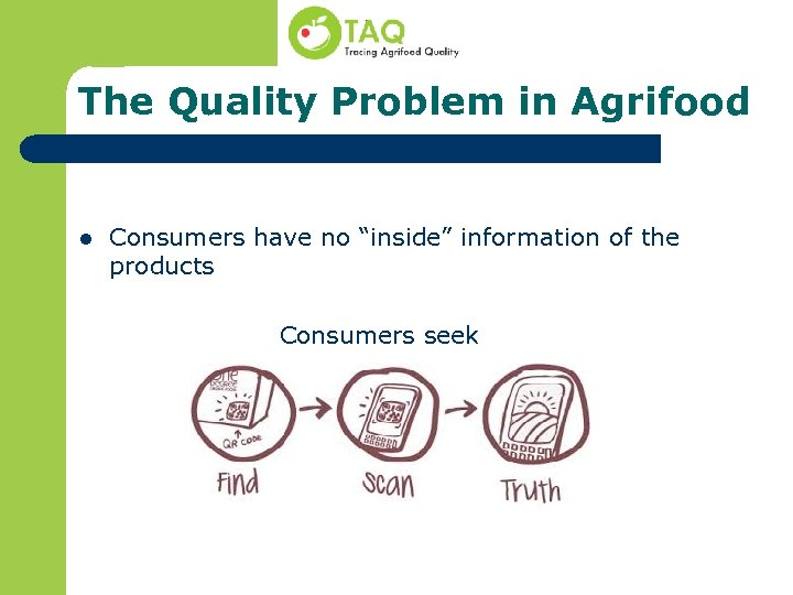 """The Quality Problem in Agrifood l Consumers have no """"inside"""" information of the products"""