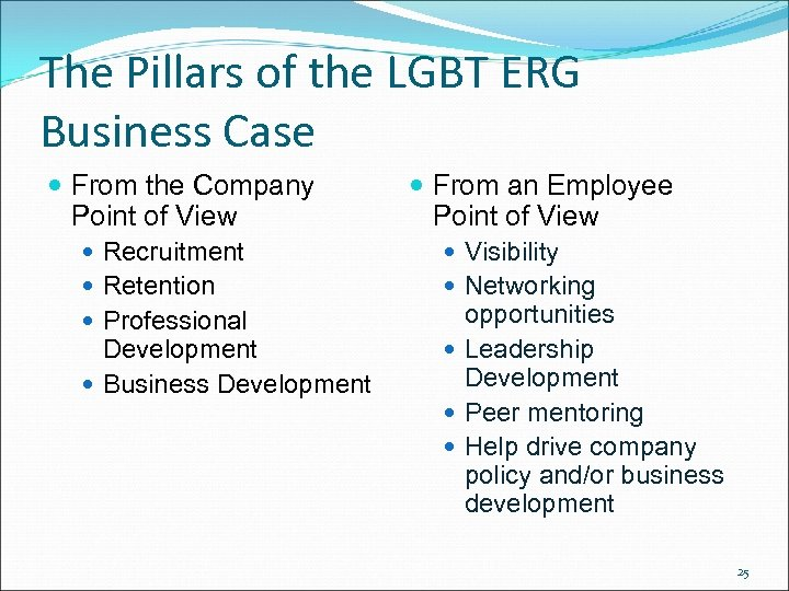 The Pillars of the LGBT ERG Business Case From the Company Point of View