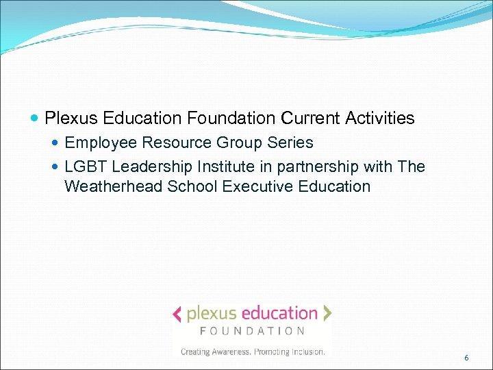 Plexus Education Foundation Current Activities Employee Resource Group Series LGBT Leadership Institute in