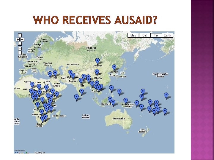 WHO RECEIVES AUSAID?