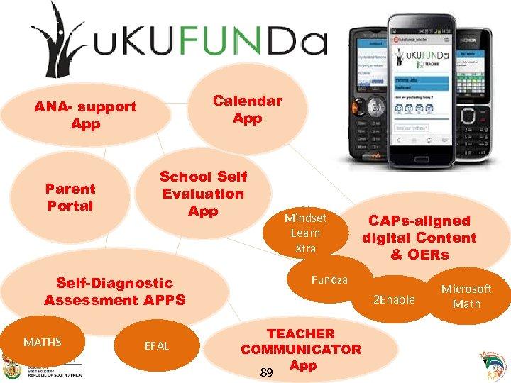 Calendar App ANA- support App Parent Portal School Self Evaluation App Self-Diagnostic Assessment APPS