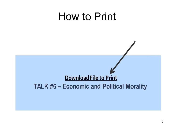 How to Print 5