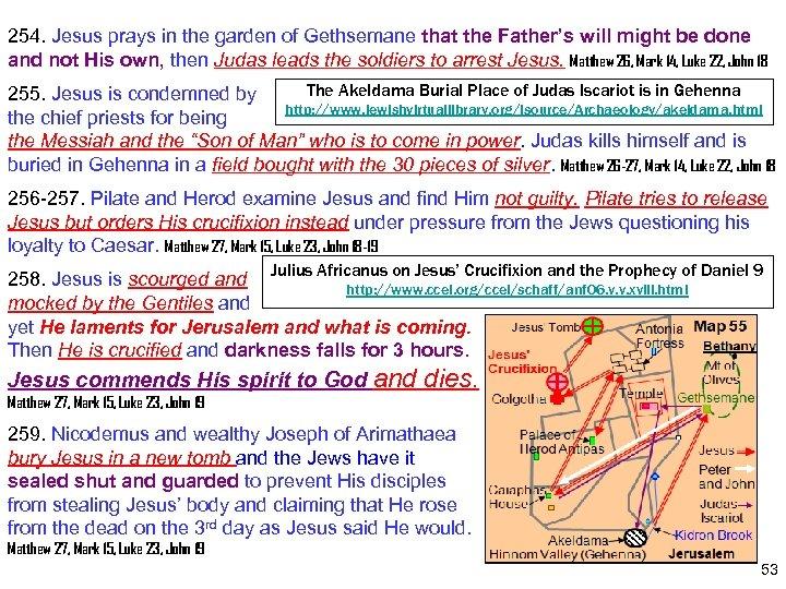 254. Jesus prays in the garden of Gethsemane that the Father's will might be