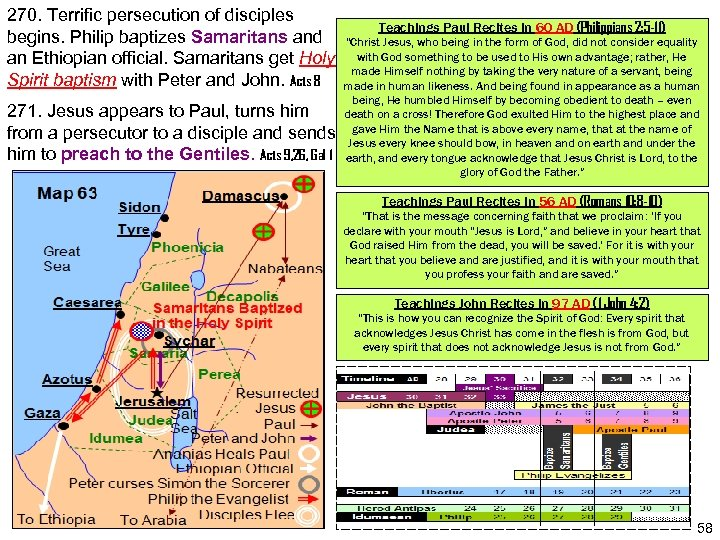 270. Terrific persecution of disciples begins. Philip baptizes Samaritans and an Ethiopian official. Samaritans