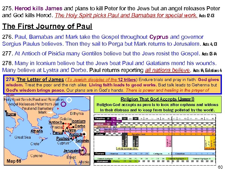 275. Herod kills James and plans to kill Peter for the Jews but an