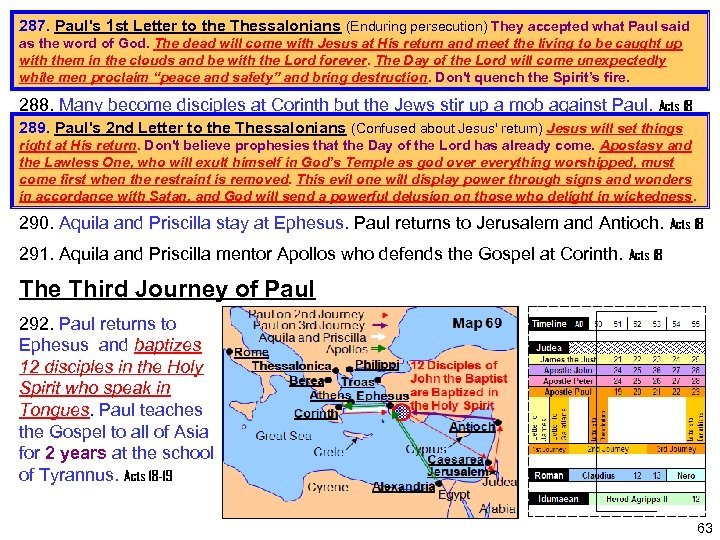 287. Paul's 1 st Letter to the Thessalonians (Enduring persecution) They accepted what Paul