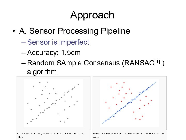 Approach • A. Sensor Processing Pipeline – Sensor is imperfect – Accuracy: 1. 5