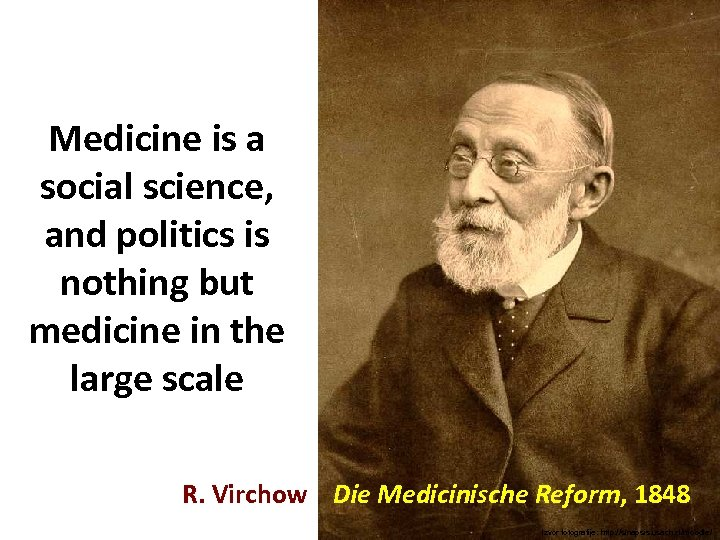 Medicine is a social science, and politics is nothing but medicine in the large