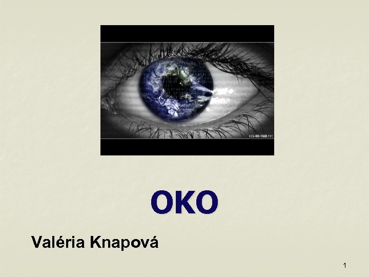OKO Valéria Knapová 1