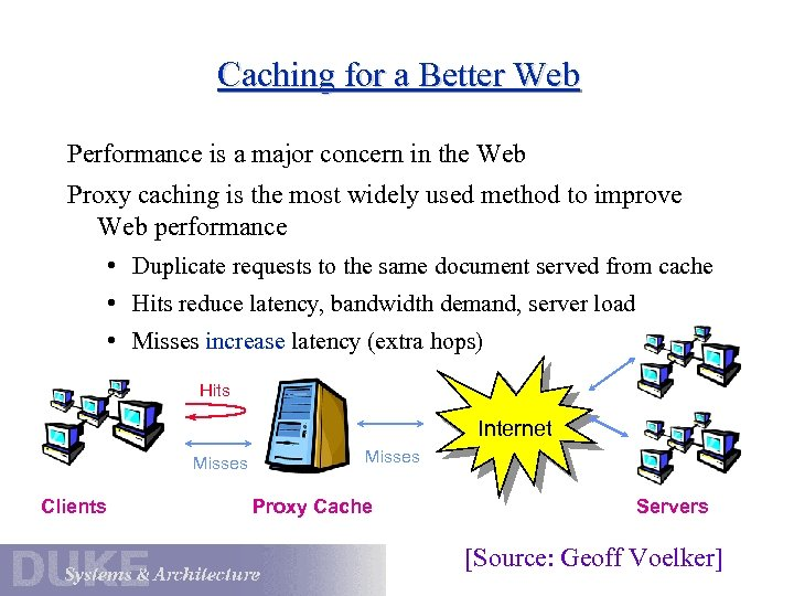 Caching for a Better Web Performance is a major concern in the Web Proxy
