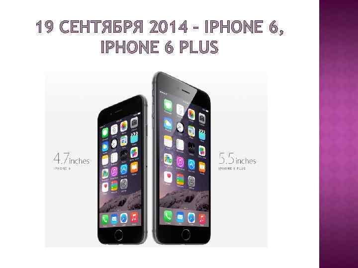 19 СЕНТЯБРЯ 2014 – IPHONE 6, IPHONE 6 PLUS