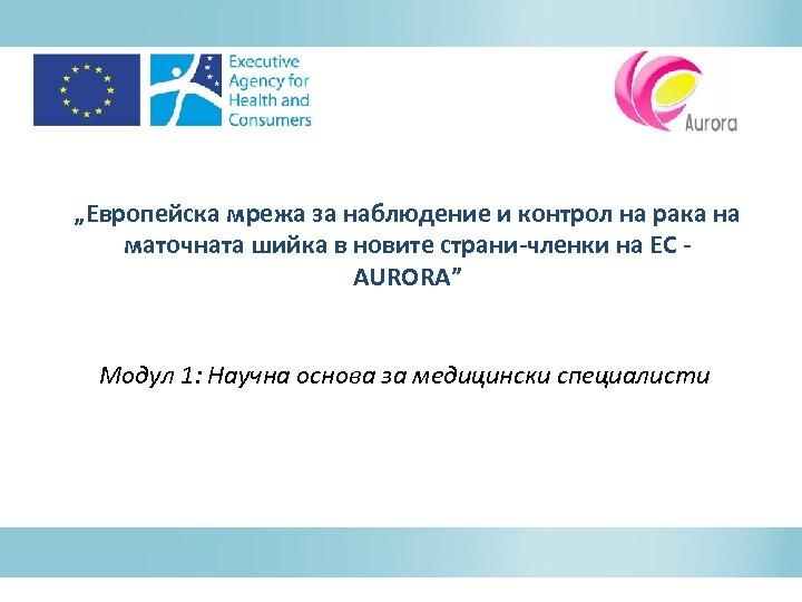 """""""Европейска мрежа за наблюдение и контрол на рака на маточната шийка в новите страни-членки"""