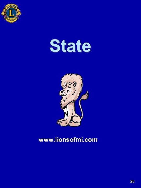 State www. lionsofmi. com 20