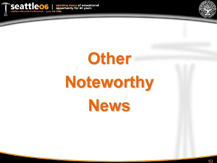 Other Noteworthy News 62