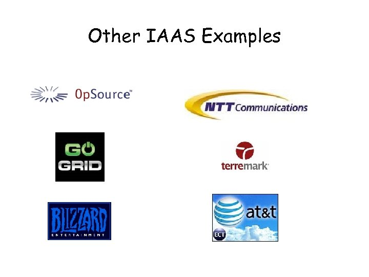 Other IAAS Examples
