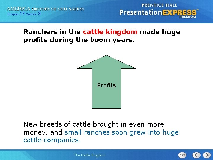 Chapter 17 Section 3 Ranchers in the cattle kingdom made huge profits during the