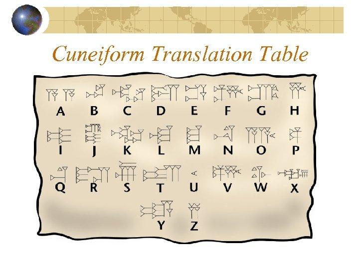 Cuneiform Translation Table