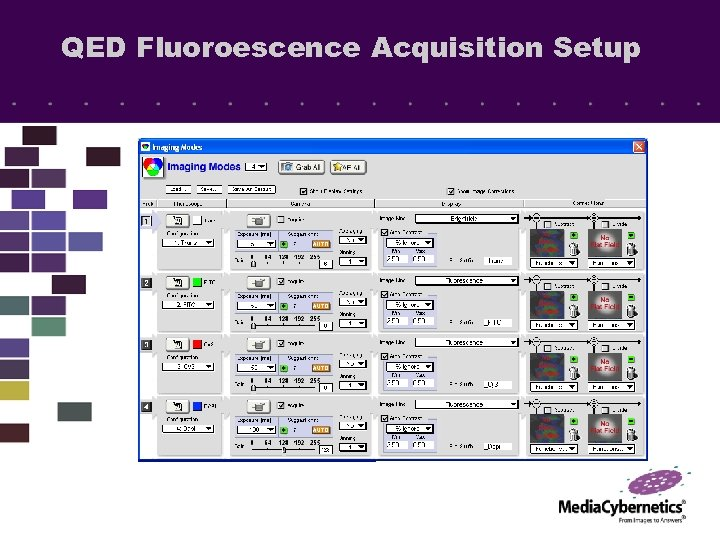QED Fluoroescence Acquisition Setup