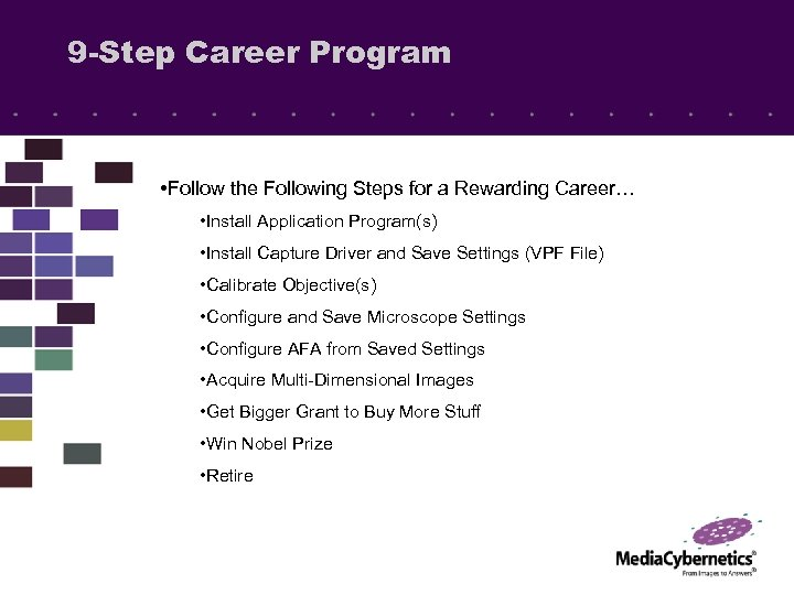 9 -Step Career Program • Follow the Following Steps for a Rewarding Career… •