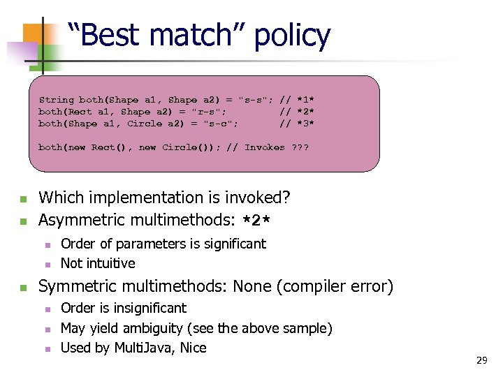 """""""Best match"""" policy String both(Shape a 1, Shape a 2) ="""