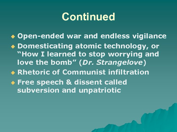 """Continued Open-ended war and endless vigilance u Domesticating atomic technology, or """"How I learned"""