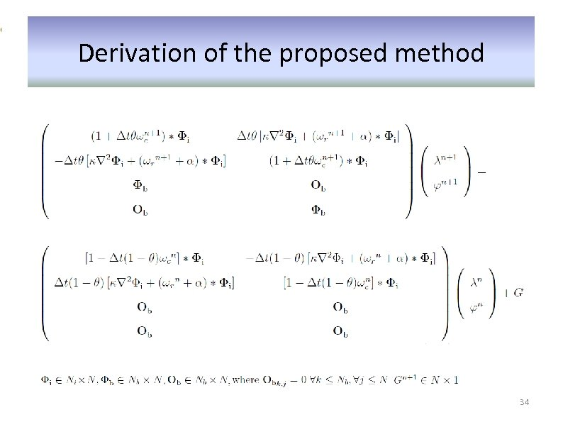 Derivation of the proposed method 34