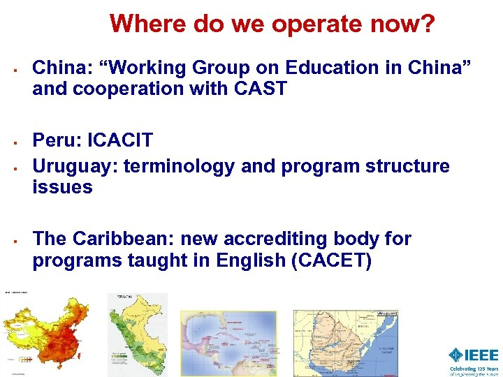 """Where do we operate now? § § China: """"Working Group on Education in China"""""""