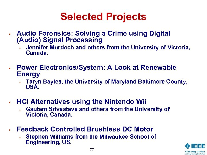 Selected Projects § Audio Forensics: Solving a Crime using Digital (Audio) Signal Processing §
