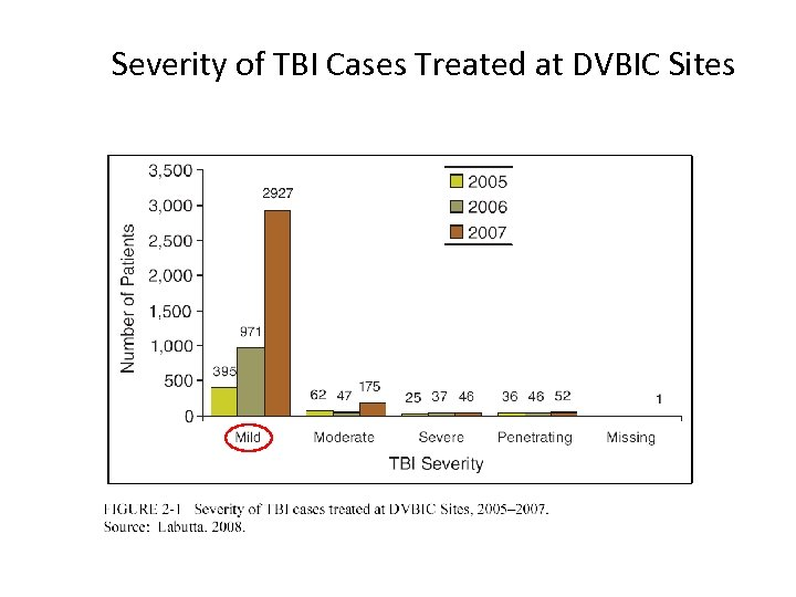 Severity of TBI Cases Treated at DVBIC Sites
