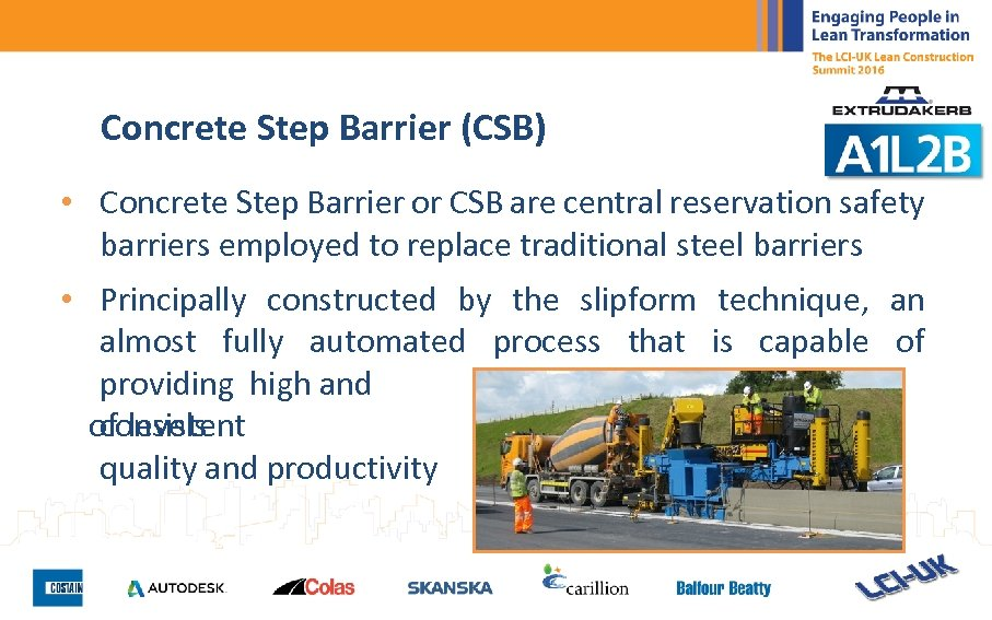 Concrete Step Barrier (CSB) • Concrete Step Barrier or CSB are central reservation safety
