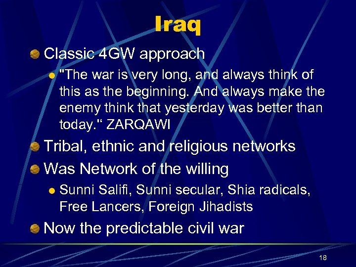 Iraq Classic 4 GW approach l