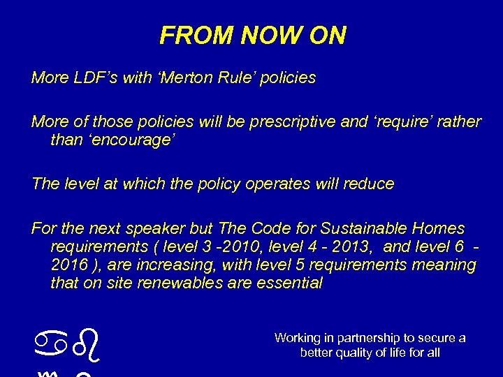 FROM NOW ON More LDF's with 'Merton Rule' policies More of those policies will