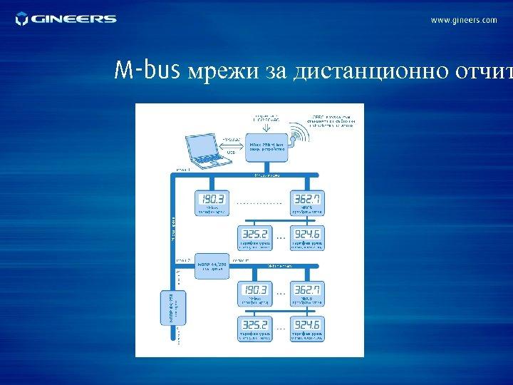 M-bus мрежи за дистанционно отчит