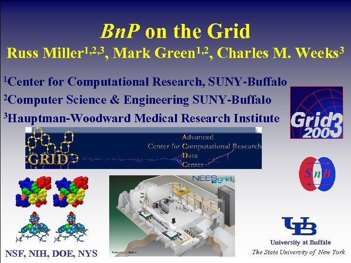 Bn. P on the Grid Russ Miller 1, 2, 3, Mark Green 1, 2,