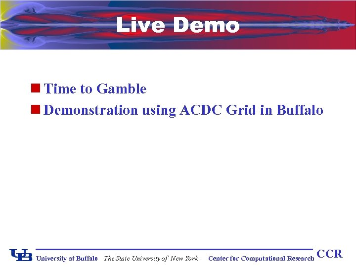Live Demo n Time to Gamble n Demonstration using ACDC Grid in Buffalo University