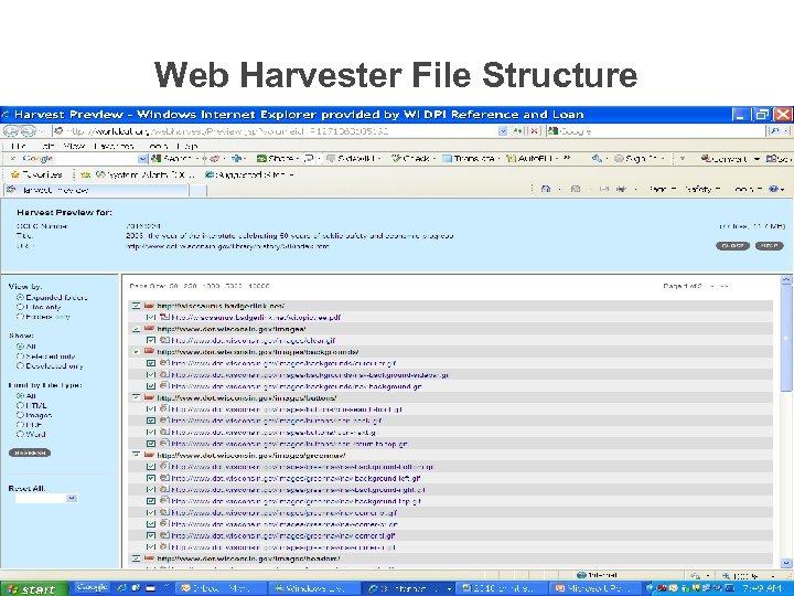 Web Harvester File Structure