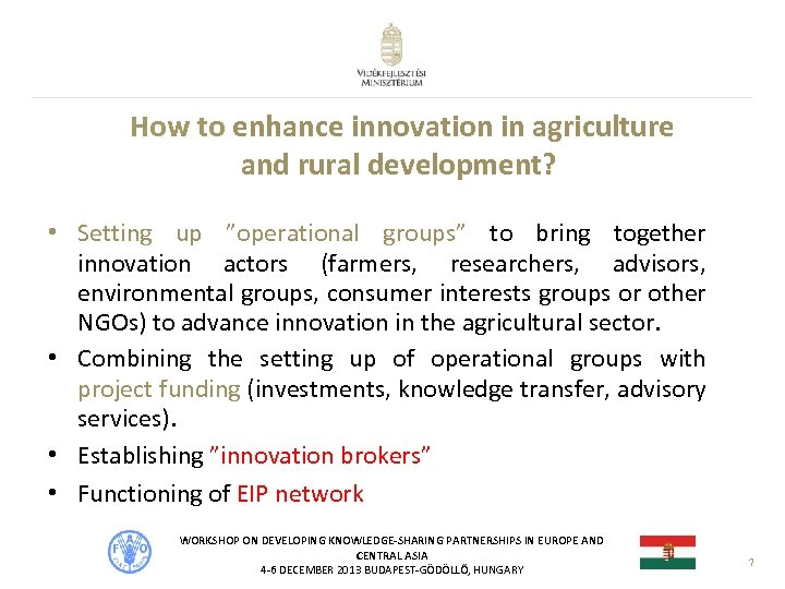 """How to enhance innovation in agriculture and rural development? • Setting up """"operational groups"""""""