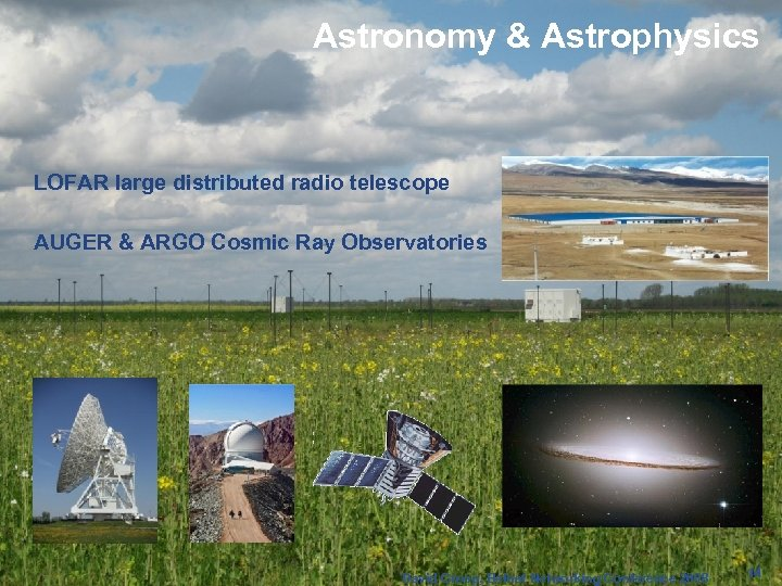 Astronomy & Astrophysics Enabling Grids for E-scienc. E LOFAR large distributed radio telescope AUGER