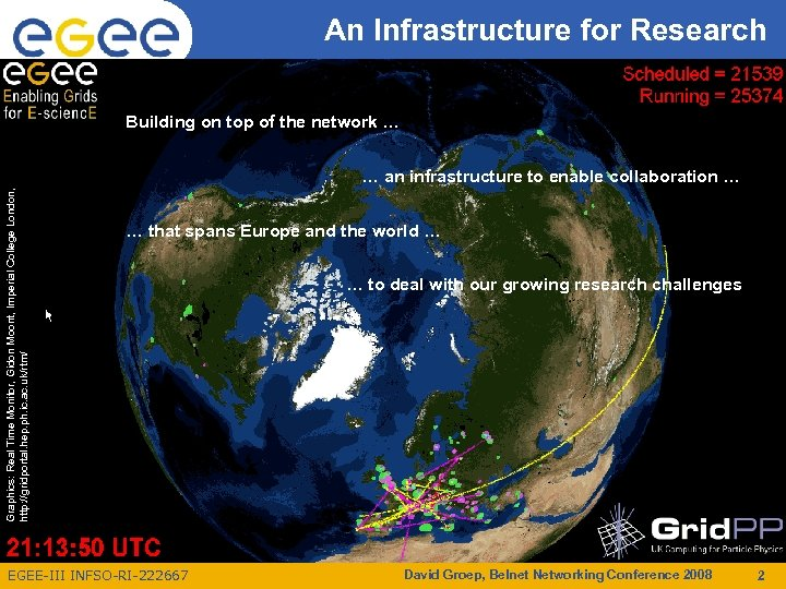 An Infrastructure for Research Enabling Grids for E-scienc. E Building on top of the