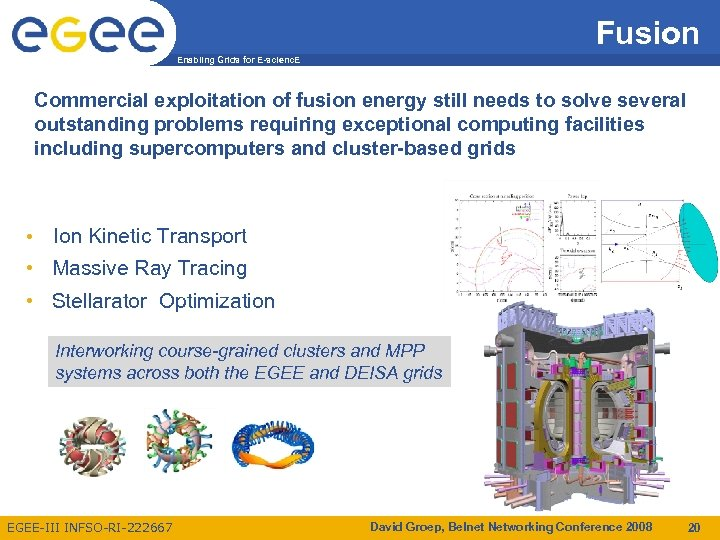 Fusion Enabling Grids for E-scienc. E Commercial exploitation of fusion energy still needs to