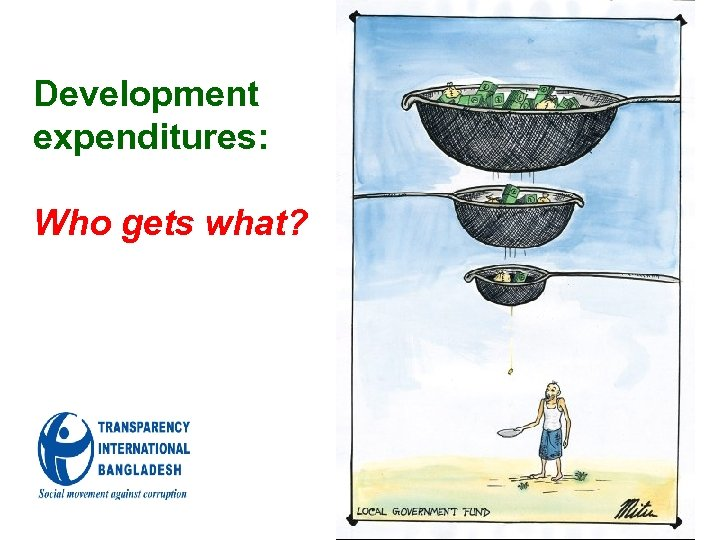 Development expenditures: Who gets what?